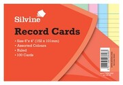 Record Cards 6X4 100...